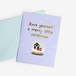 [금박] 스노우볼 크리스마스 카드 set