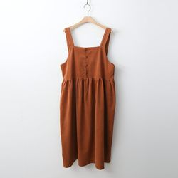 Button Overalls Dress