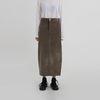 street corduroy long skirt (3colors)
