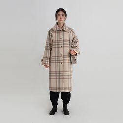 alpaca check coat (2colors)