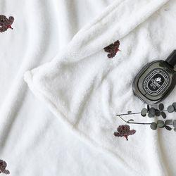 [무료배송] 극세사 자수 담요 푸들 85x100cm