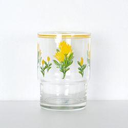 옐로우 튤립 빈티지 유리컵 (245ml)