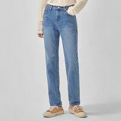 simple washing denim pants (s m)