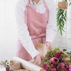 린넨 러블리 앞치마 - rose pink