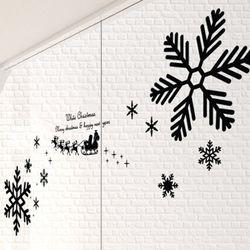 im895-크리스마스눈꽃데코그래픽스티커