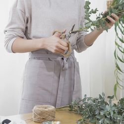 면 하프 러블리 앞치마 - 2color