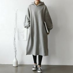 Gimo Hoodie Volume Long Dress