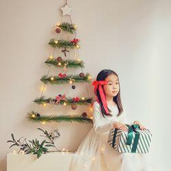 인테리어 소품 크리스마스 행잉 우드 벽트리 파인 레드 베리