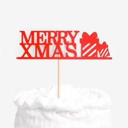 크리스마스 선물 케이크토퍼