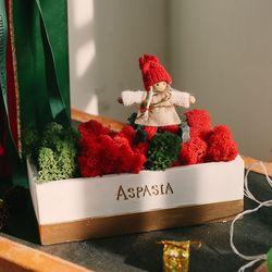 피피 크리스마스 스칸디아모스 센터피스-공기정화습기제거