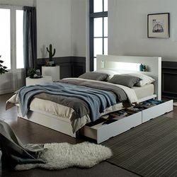 로니 베네 평상형서랍LED 침대 프레임SS dm352