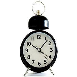 아침을 흔드는 시끄러운 알람시계 레트로 탁상시계