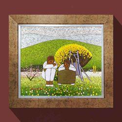 설레임 인테리어 그림액자 행복한그림 유화그림