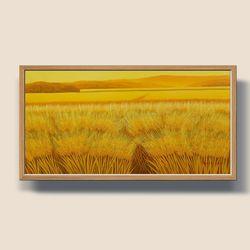 황금 황보리 보리그림 유화그림 돈들어오는그림