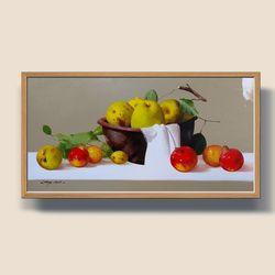 풍요의과일 사과그림 풍수지리그림 부자되는그림