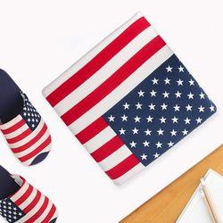 미국 유니온잭 면 메모리폼 방석 40x40