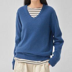range v-neck wool knit