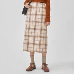 bonnie check wool skirt (s m)