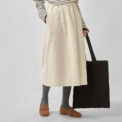seize banding corduroy skirt