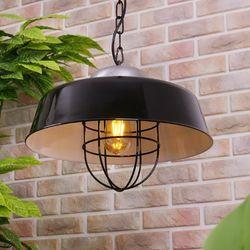프로방스 펜던트-블랙 + LED전구
