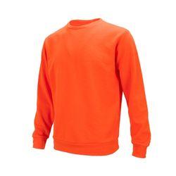 플레인 라운드 기모 맨투맨 오렌지 티셔츠AJM009