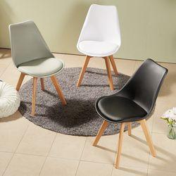 심플 라인 원목 의자