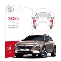 스코코 현대 2018 넥쏘 리어범퍼사이드 자동차 PPF 보호필름