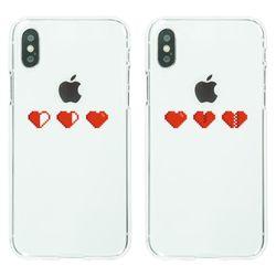 Pixel heart 소프트젤리케이스(아이폰전기종)