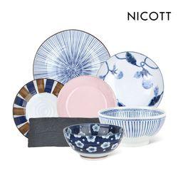 [균일가] 니코트 면기와 큰접시 긴접시 28종모음 JAPAN