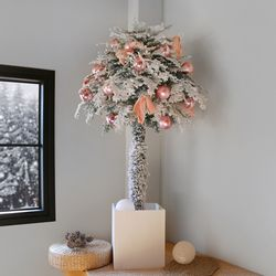 토피어리 트리-핑크 장식 SET(150cm)+눈꽃전구