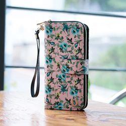 갤럭시A6플러스 (A605) Flores 지갑 다이어리 케이스