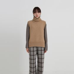 wool turtleneck vest (4colors)