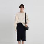 corduroy shirring blouse (2colors)