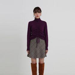 front shirring pola knit (4colors)