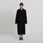 wool double long coat (2colors)
