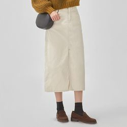 mono corduroy long skirt (s m)