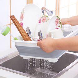 청결한 다용도 실리콘 식기건조대 접시꽂이