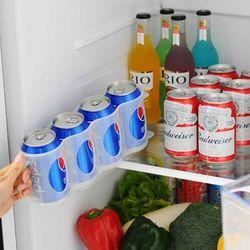 편리한 냉장고 맥주캔 음료캔 정리 수납함
