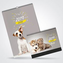 2019년 달력 반려동물 포토 캘린더 4종