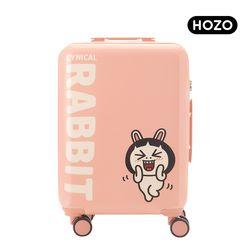 [HOZO] 시니컬래빗 인 핑크 캐리어 20인치 기내용