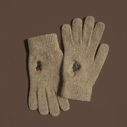 Christmas in Chosun gloves (wool)(beige)