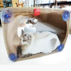 창문 부착형 고양이 윈도우 해먹