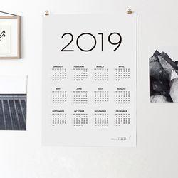 2019 심플캘린더 벽걸이달력