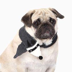 강아지옷 캐릭터 니트 목도리