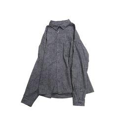 리라식 MEN : 울 코튼 루즈핏 레이어드 셔츠 (그레이)