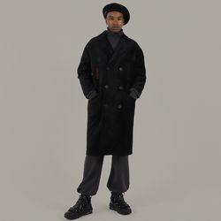 VELVET LONG COAT (black)