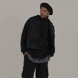 VELVET SHORT COAT (black)