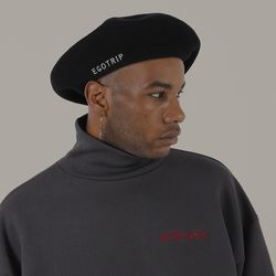 LOGO WOOL BERET (black)