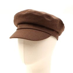 Simple Khaki Wool Marine Cap 마린캡