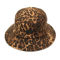 Black Metal Leopard Bucket Hat 호피버킷햇